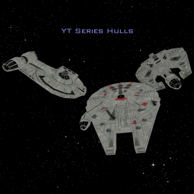 Star Wars - YT light freighter hulls