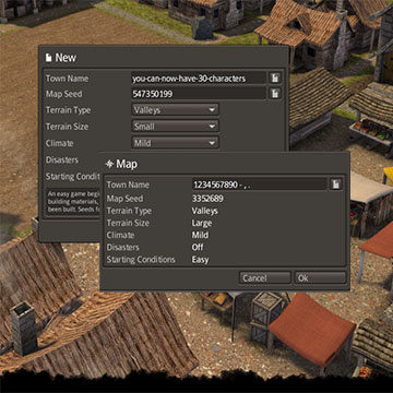 UI improvements for Banished