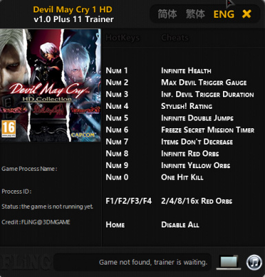 Devil May Cry HD Collection Trainers