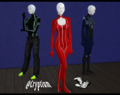 Persona 5 CC - Bodysuits Pack - REDUX --Included in ECv1--