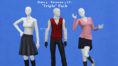 CC - Persona 3 - Triple Tops Pack at The Sims 4 Nexus - Mods
