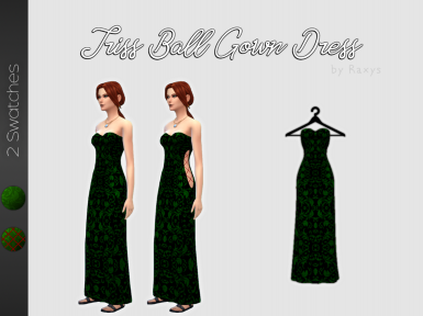 Triss Merigold Ball Gown Dress by Raxys - The Witcher 3 Inspired Clothing