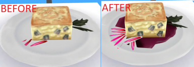 The ambrosia was always glitched since the game launch, the second image show it fixed.