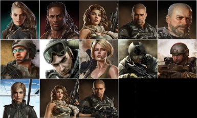Military Rangers Portraits Collection