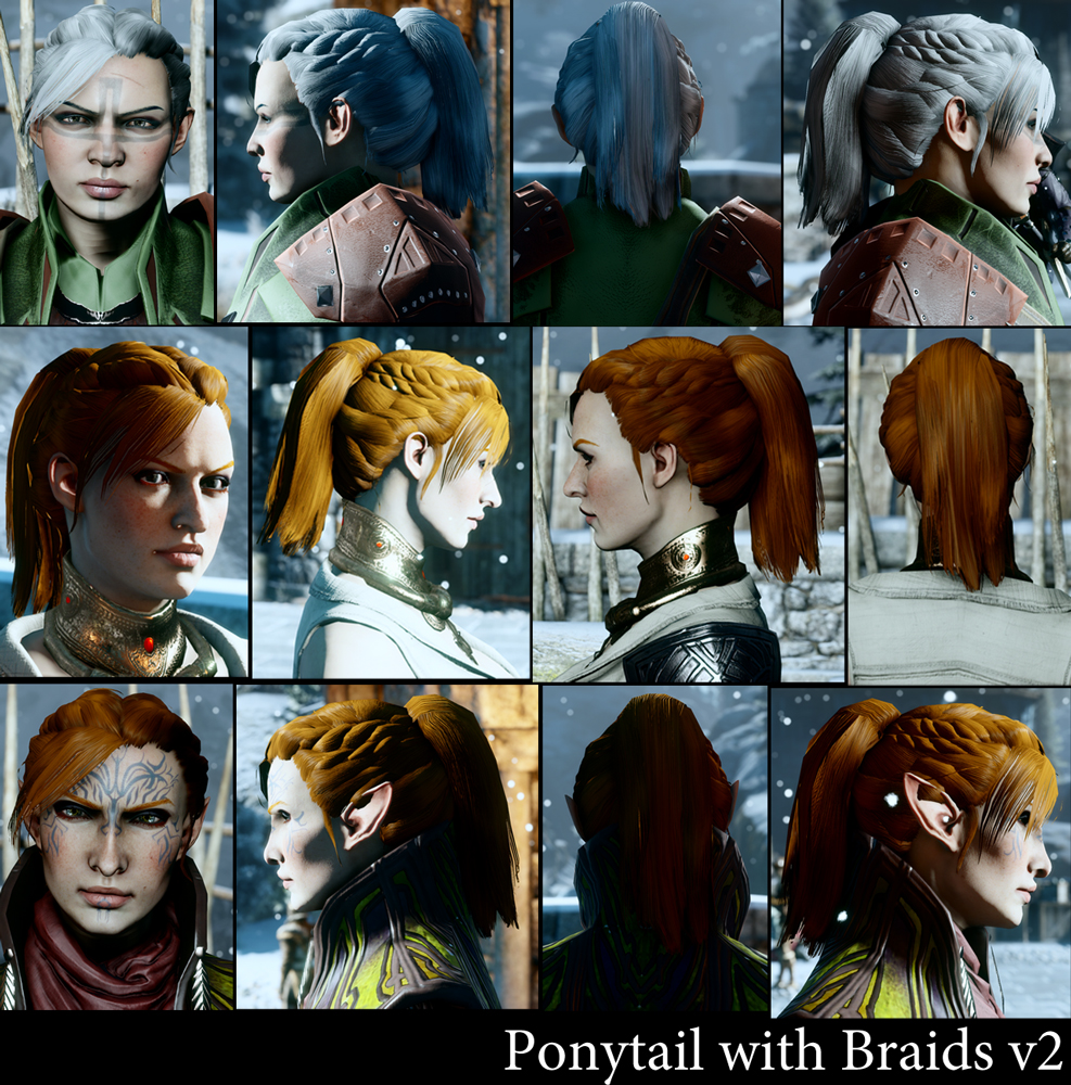 More Ponytail Hairstyles Dragon Age Inquisition Mod
