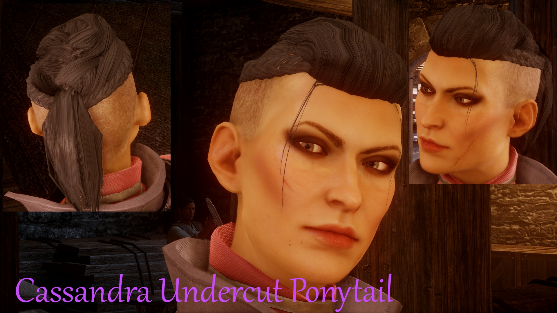 Cassandra's Undercut Pony And Fierce Makeup At Dragon Age