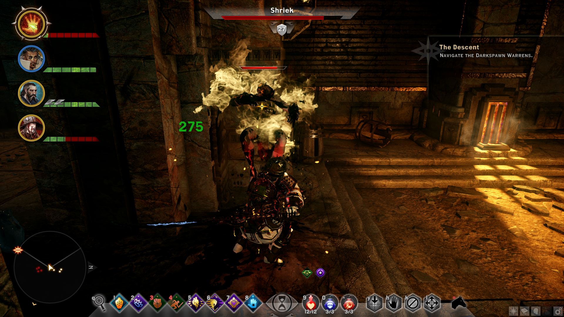 elemental damage for non-staff weapons at dragon age: inquisition