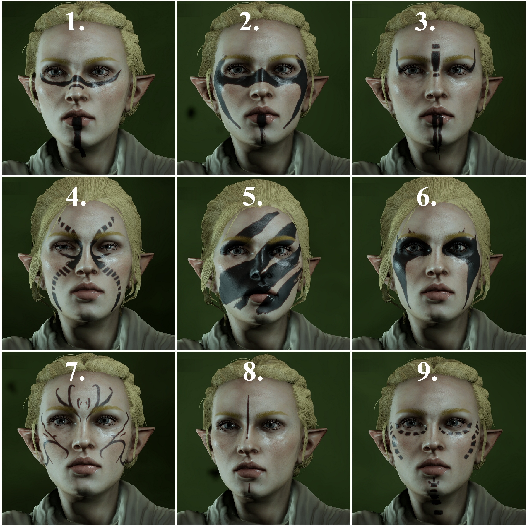 Skyrim Nord Face Paint
