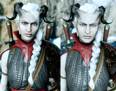 Qunari Female Long Sidebraid