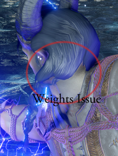 weights issue on Qunari male sidebraid