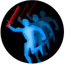 Blue Guy With Red Sword