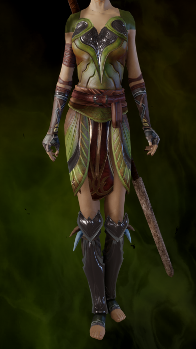 EF Dalish Warrior Mesh Edit