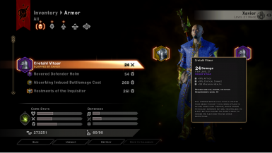 Equip the Unique Vitaars on non-qunari characters.