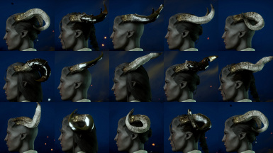 The Horns of Plenty - Ivory with golden flakes