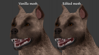 The mesh edit should be compatible with Deszczowyjka's retextures (shown here is the Barkspawn one)