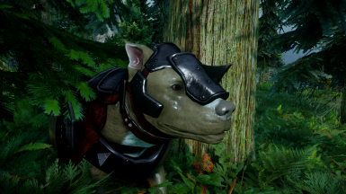 Modded armoured dog in-game