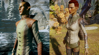 Dalish Elf Skyhold Outfit Retextures