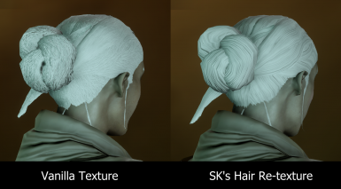 Qunari Thick Bun Hair