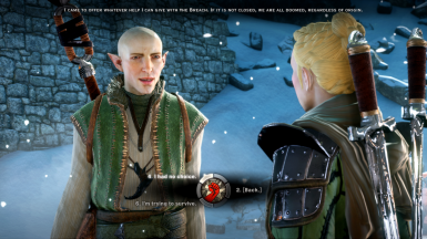 Example of unlocked dialogues.