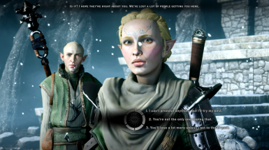 Example of renamed dialogue options to reflect what the inquisitor is actually saying.