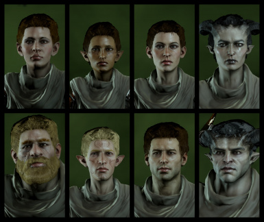 DAO and DA2 Hairs and Beards for Inquisition