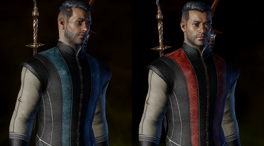Blue and red doublet variants - only sleeves craftable