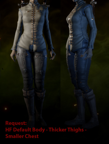 Request - HF Default Body with Thicker Thighs and Smaller Chest