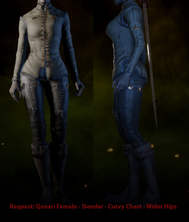Request - QF Slender - Curvy Chest - Wider Hips