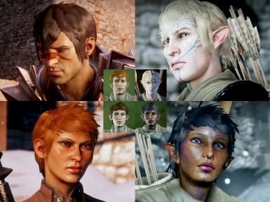 swapped hawke styles for humans and elves