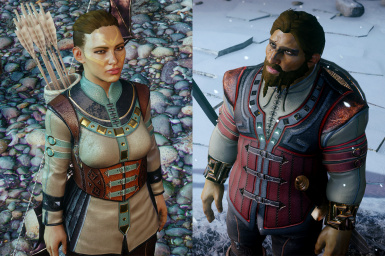 female and male retextures