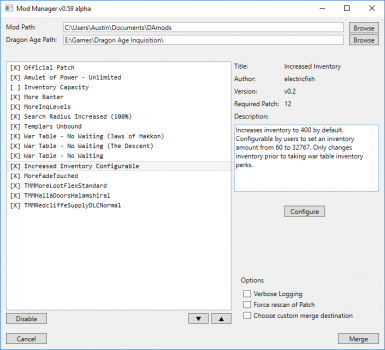 Configurable version in Mod Manager