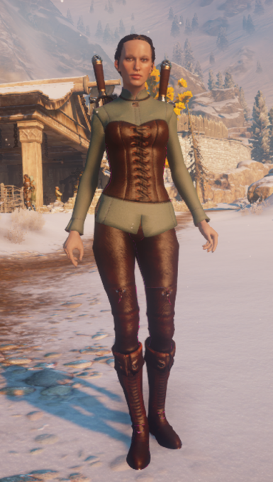 Leather corset Skyhold PJs