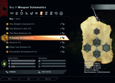 Weapon Schematics
