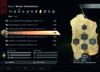 All Armor Schematics