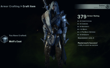 Solas Armor wt stat is too overpowered lol