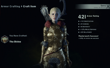 All female can wear it but doesnt look good on qunari or dwarf or male PLS DONT xD
