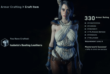 Isabela MP Armors Crafting
