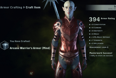Arcane Warrior MP Armors Crafting