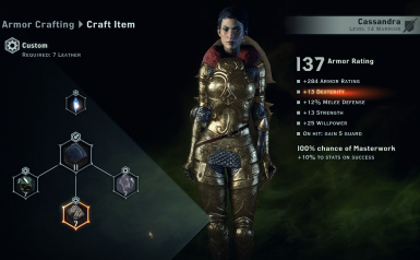 Divine Armor Cass and Viv only I remove restriction but the other still cant wear it