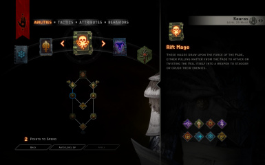Unlock and change Specializations (et alia) at Dragon Age