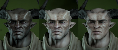 Stronger Freckles for Male and Qunari
