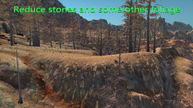 Reduce stones and some other foliage