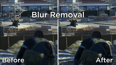 Blur Removal for Ground Zeroes