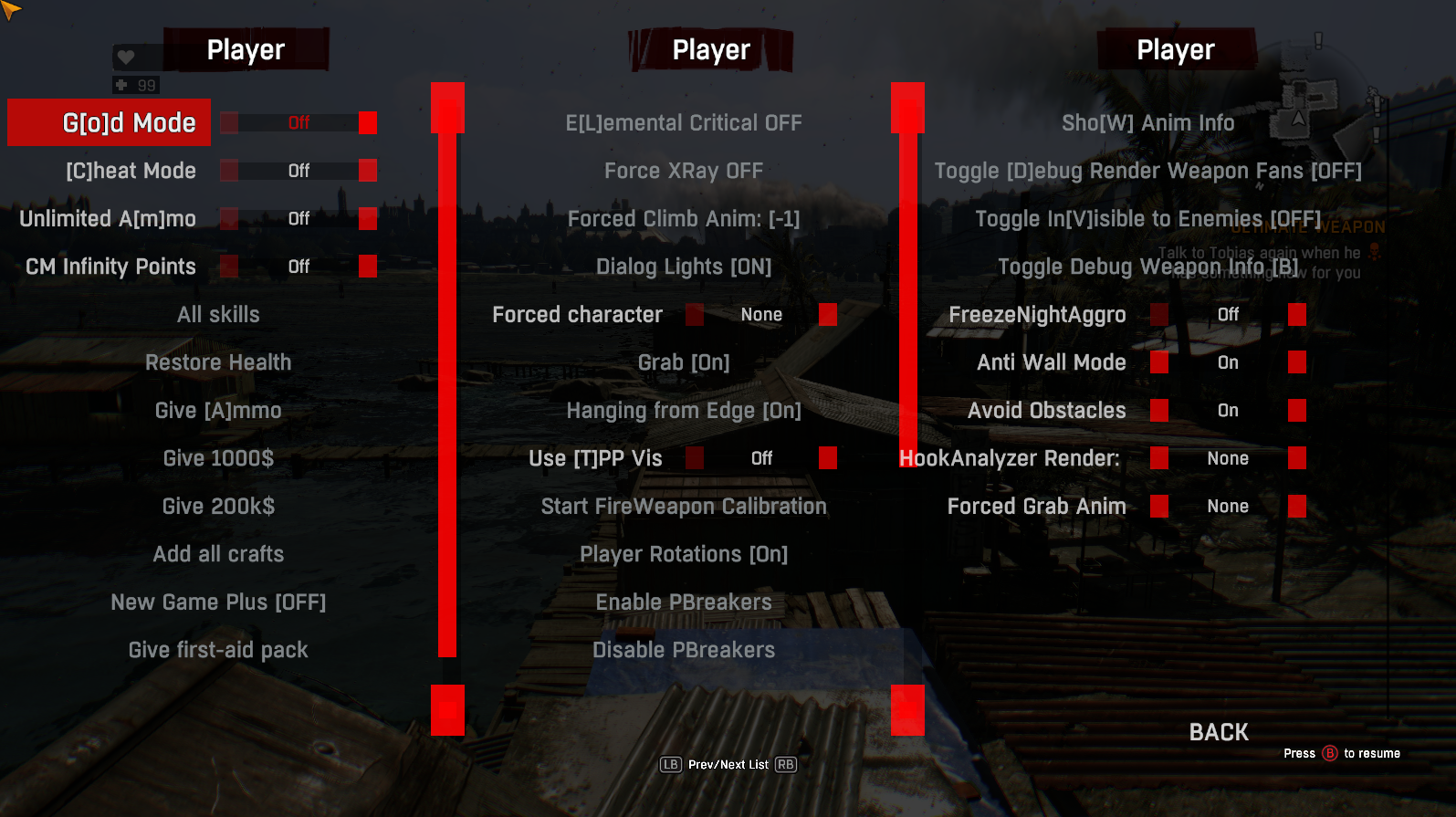 Developer And Cheat Menu At Dying Light Nexus Mods And