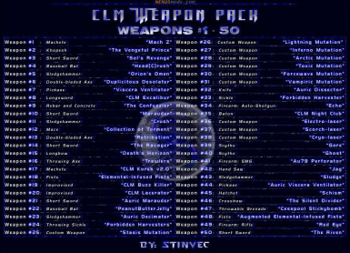 CLM-WP Weapons 1-50