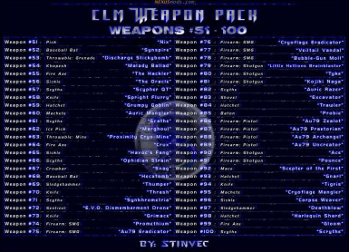 CLM-WP Weapons 51-100