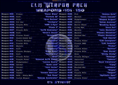 CLM-WP Weapons 101-150