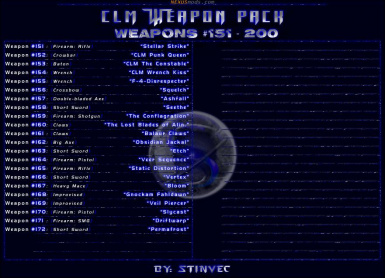 CLM-WP Weapons 151-200