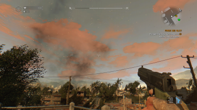 Dying Light Red Sunshine and Orange clouds Mod