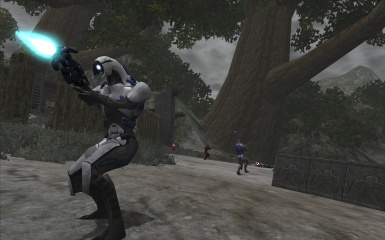 Geth Shock Trooper on Kashyyyk